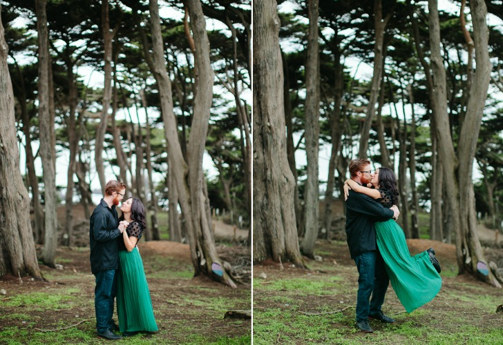 meg sexton engagement session at sutro baths